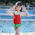 cute baby girl swimwear one piece watermelon model 75-100cm/2-5Y girls swimsuit kid/children swimming Suit free shipping