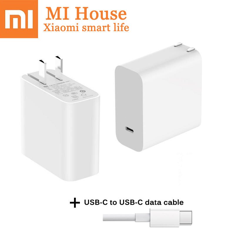 Original Xiaomi USB-C 65W Quick Charger Output Type C Port USB PD 2.0 QC 3.0 Type C Mi laptop por 15.6 Socket Power adapter Max