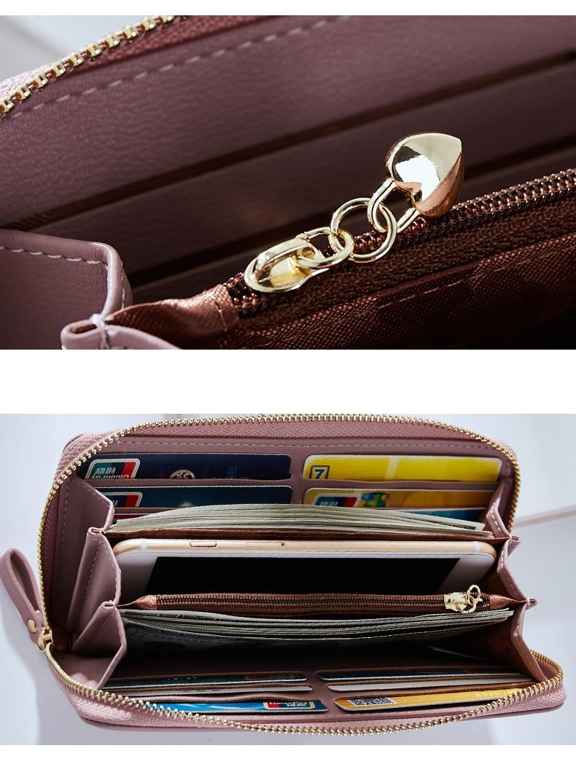 Women Long Clutch Wallet Large Capacity Wallets Female Purse Lady Purses Phone Pocket Card Holder Carteras 36