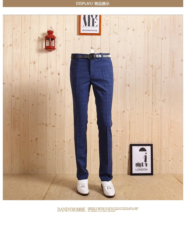 Досуг Новое поступление Осенний Человек зеленый супер тонкий брюки умный Повседневный Свадебный Жених джентльмен деловой мужской клетчатый Костюм длинные брюки