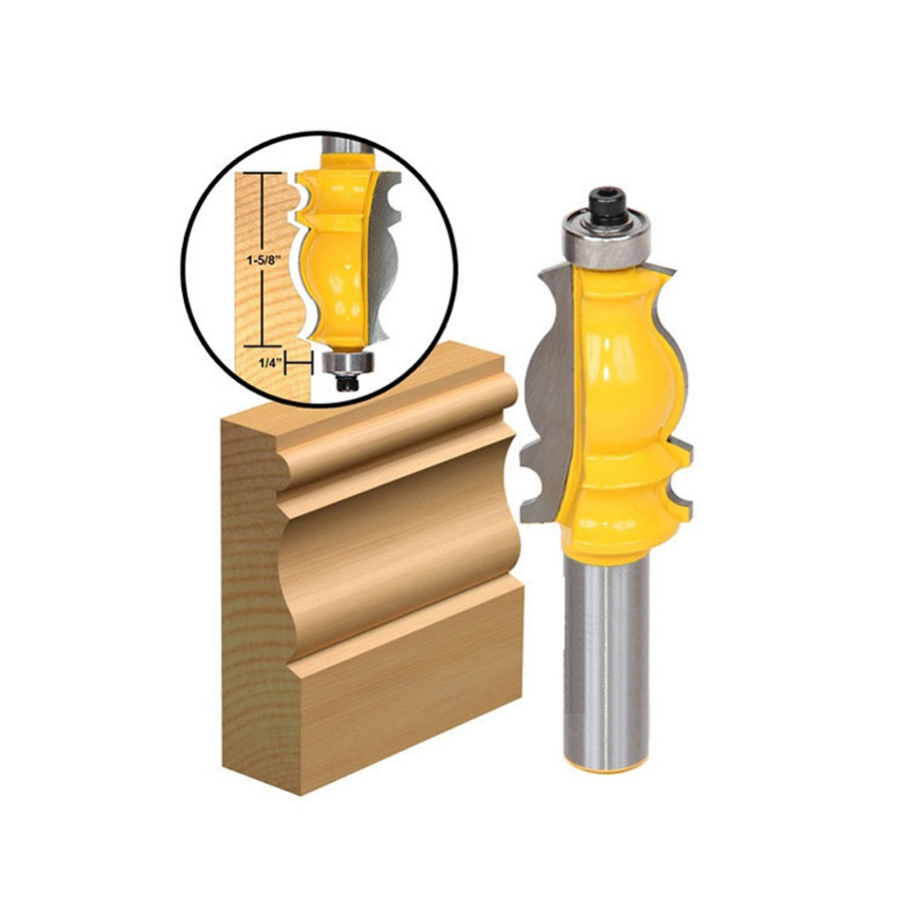 1/2inch Shank Architectural Cemented Carbide Molding Router Bit Trimming Wood Milling Cutter for Woodwork Cutter Power Tools 16pcs 14 25mm carbide milling cutter router bit buddha ball woodworking tools wooden beads ball blade drills bit molding tool