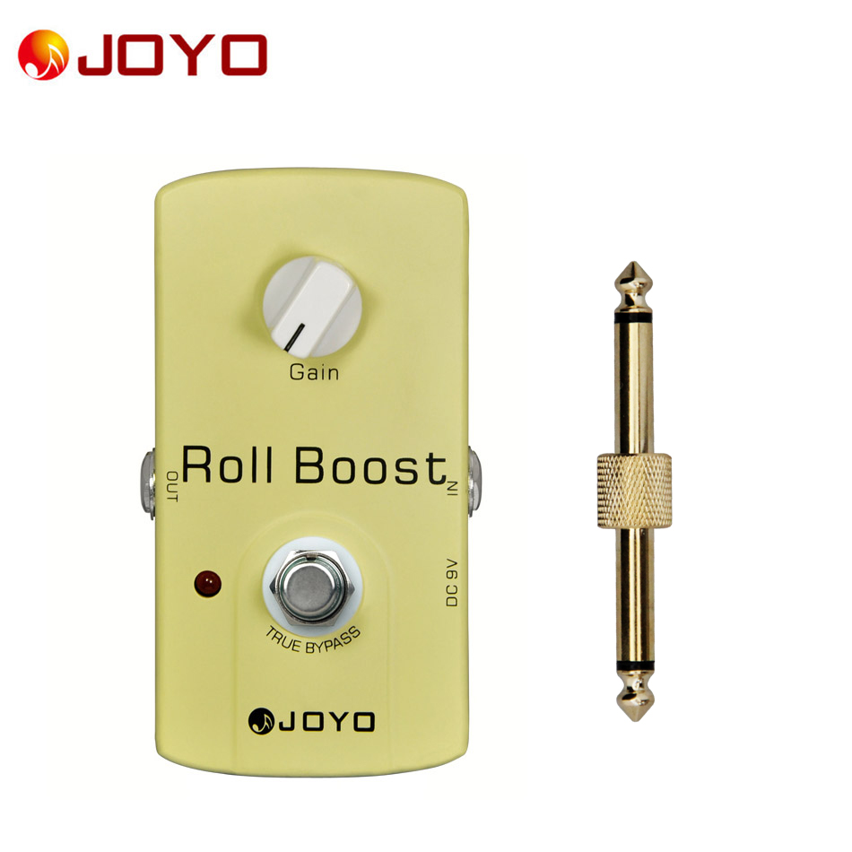 JOYO JF-38 Roll Boost (up to a 35dB boost) True Bypass Guitar Effect Pedal +one Pedal Connector / Electric Guitar accessories aroma adr 3 dumbler amp simulator guitar effect pedal mini single pedals with true bypass aluminium alloy guitar accessories