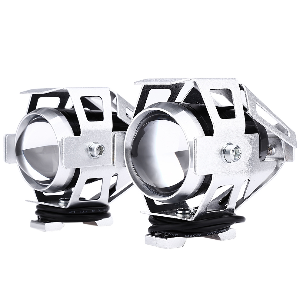 Lightme 2pcs 125W 3000LM U5 LED Transform Spotlight Motorcycle Headlight Aluminum Alloy Material High Brightness Easy to Install