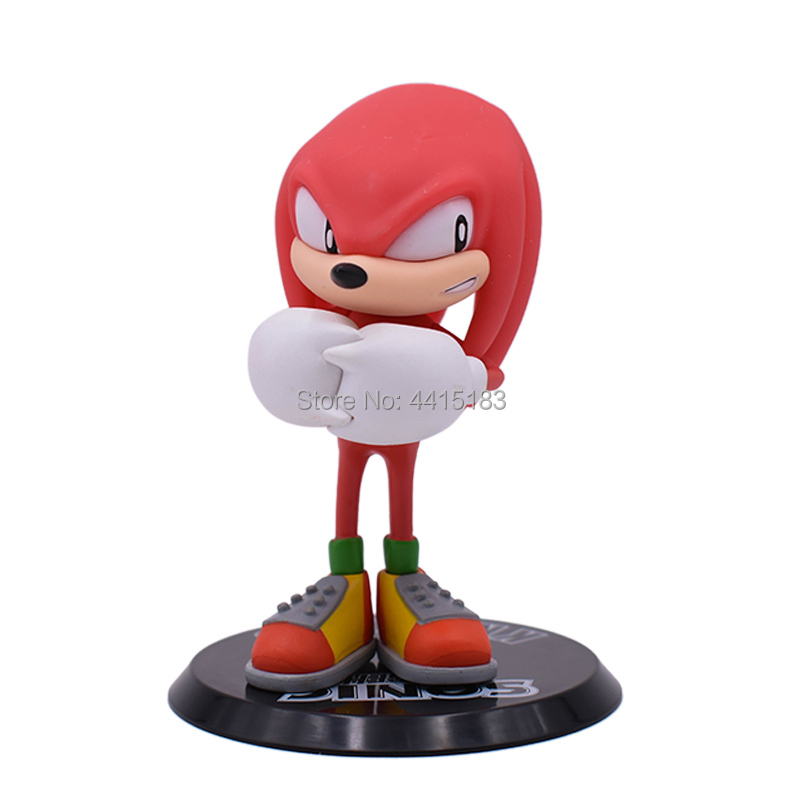 3 Styles Anime Sonic Tails Knuckles PVC Action Figure Doll Model Toy Christmas Gift For Children With box in Action Toy Figures from Toys Hobbies