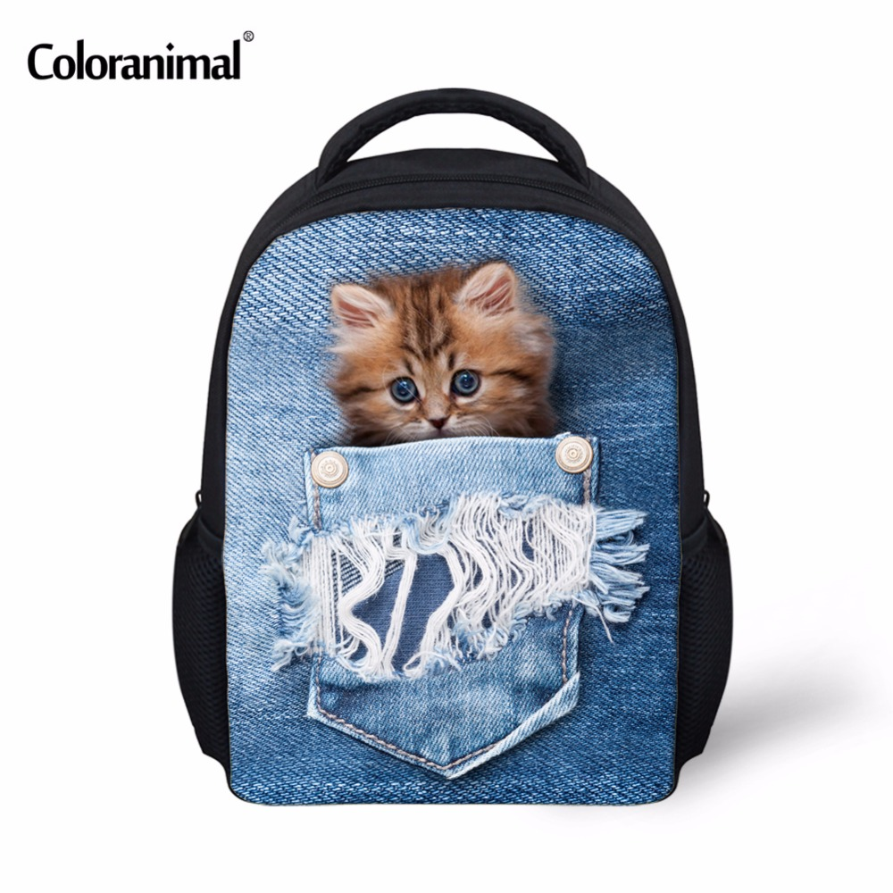 6e24a2d06faa Coloranimal Cute Cat School Bags Toddler Baby Gifts Kindergarten ...