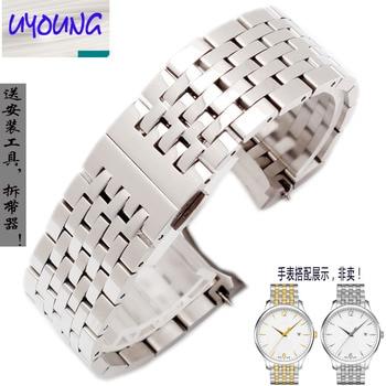 6320943efe9 Comprar ahora Young acero cadena de reloj de Tissot 1853 serie junya  t063617 t063637 t063639A masculino 20mm