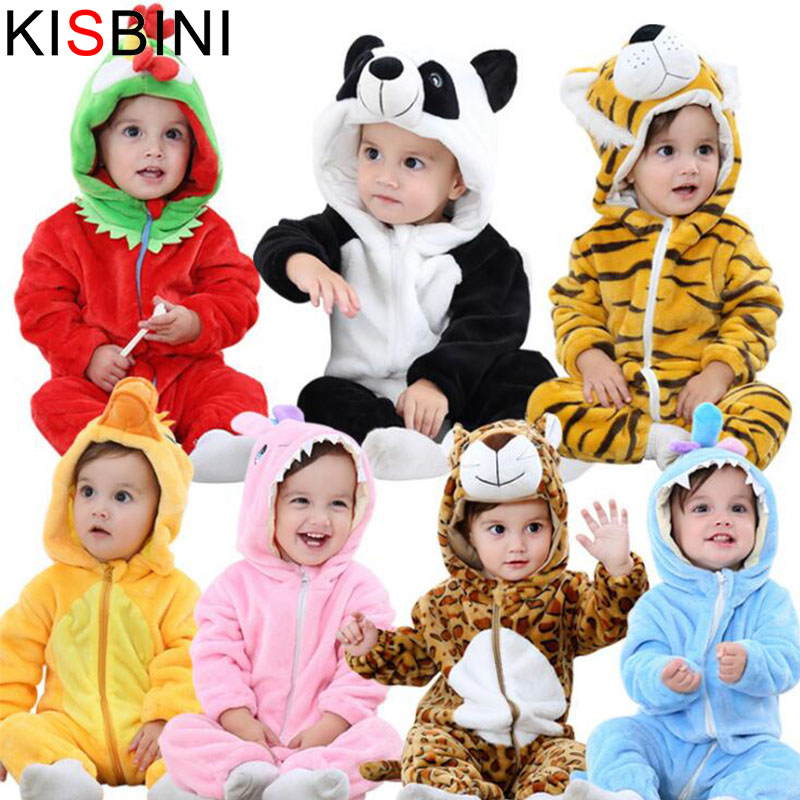 KISBINI Panda Baby Girls Clothes Baby Rompers Long Sleeve Costume Winter Fleece Clothes Boys Snowsuit Jumpsuit Christmas Newborn cotton baby rompers set newborn clothes baby clothing boys girls cartoon jumpsuits long sleeve overalls coveralls autumn winter