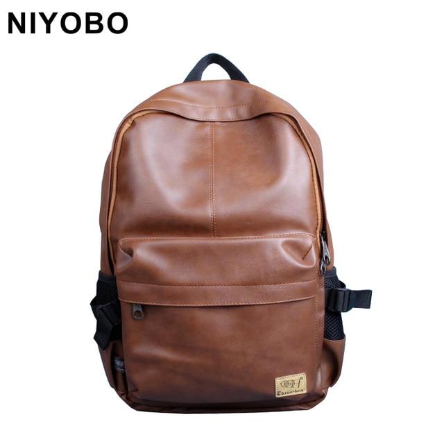 472c3b95a 2016 Fashion Designer Men Backpacks Pu Leather Rucksack School Bag Casual Women  Backpack Travel Bolsas Mochila