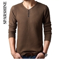 2016 Autumn Winter Men Sweaters V-neck Cashmere Wool Pullovers Thick Warm Designer Slim Fit Casual Knitted Man Knitwear