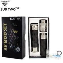 SUB TWO 2017 Newest able AV mod Carbon fiber extension Kit adjustable Mechanical 18650 Mods Vape pen Kits  Electronic Cigarette