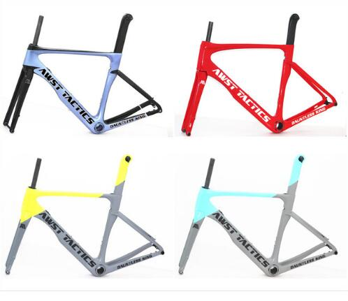 2019 Style  Disc Brakes Carbon Road Bike Frame Carbon Fibre Cycling 142mm*12mm Race Bicycle Carbon Fiber Bicycle Frame In Stock