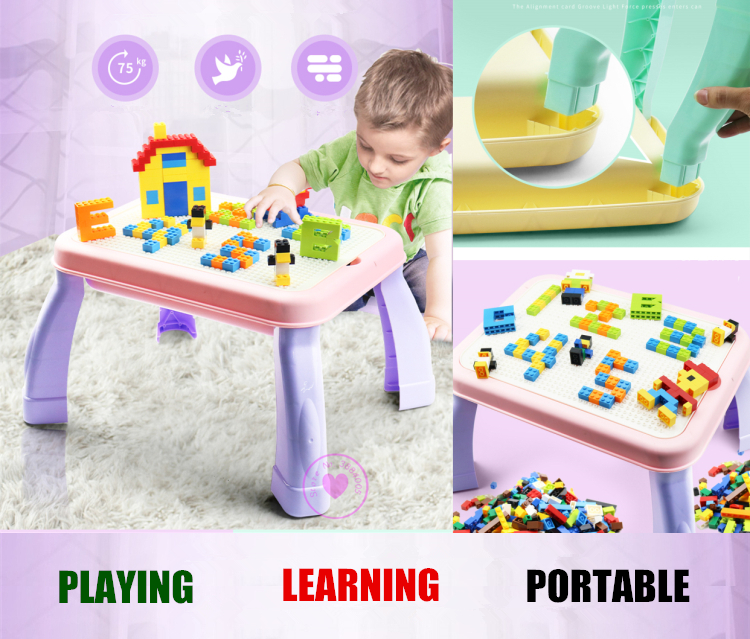 EDUCATIONAL LEARNING PLAYING BRICKS TABLE fit legoings diy bricks city figures DIY building blocks creative bricks Toy gift kid 407pcs sets city police station building blocks bricks educational boys diy toys birthday brinquedos christmas gift toy