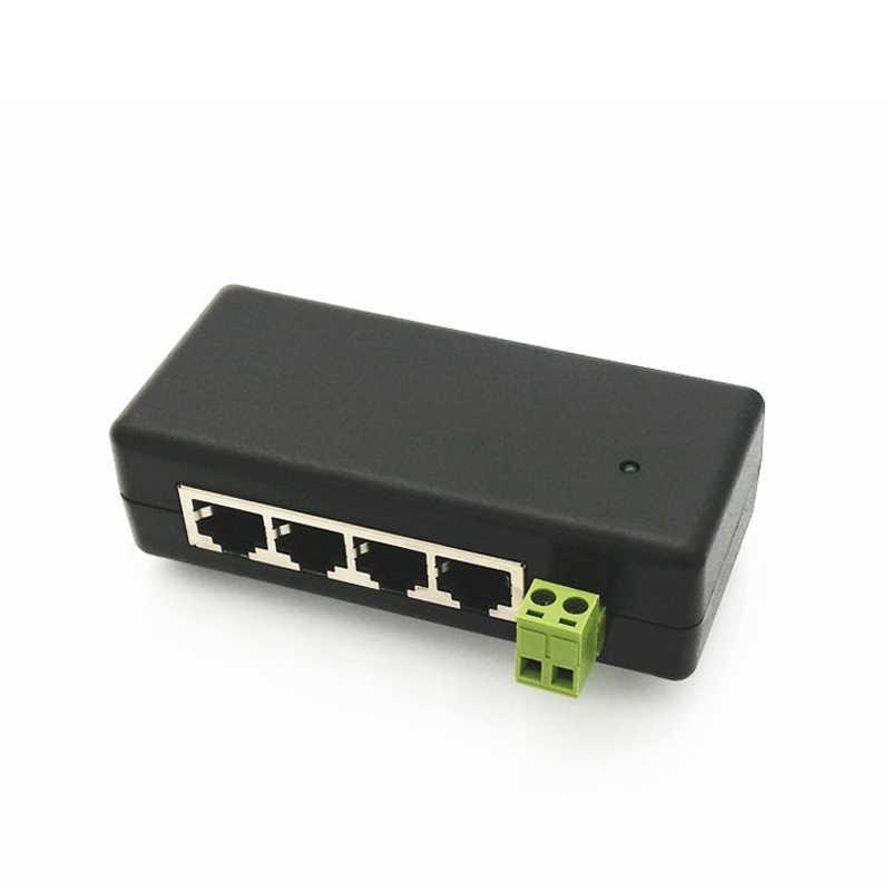 4 יציאת Poe מזרק Poe כוח מתאם Ethernet פינים אספקת חשמל 4,5 (+)/7,8 (-) קלט Dc12V-Dc48V עבור Ip מצלמה