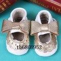 2016 projetos novos do bebê meninas Mary Jane sapatos Genuíno arco sapatos De Couro Primeiros Caminhantes Da Criança do bebê recém-nascido Sapatos mocassins