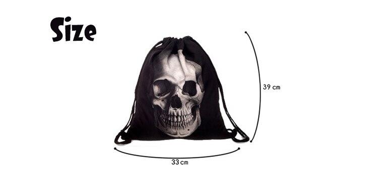 Bolsa de alucinación de lienzo con estampado 3D 57