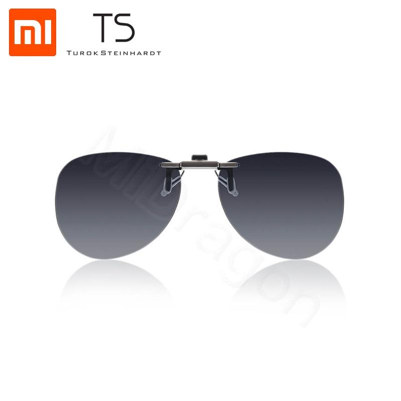 Xiaomi Mijia TS piloto óculos de sol clipe TAC lens 135 graus aumento Clipe de liga de Zinco Anti UVA proteger os olhos do Motorista Noite óculos