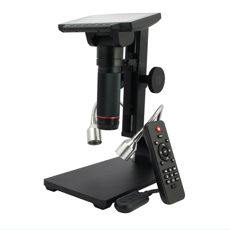 HDMI USB Digital Microscope 5 Inch HD High Object Distance Electronic Video Microscopio Phone Repair Solder THT SMD Magnifier