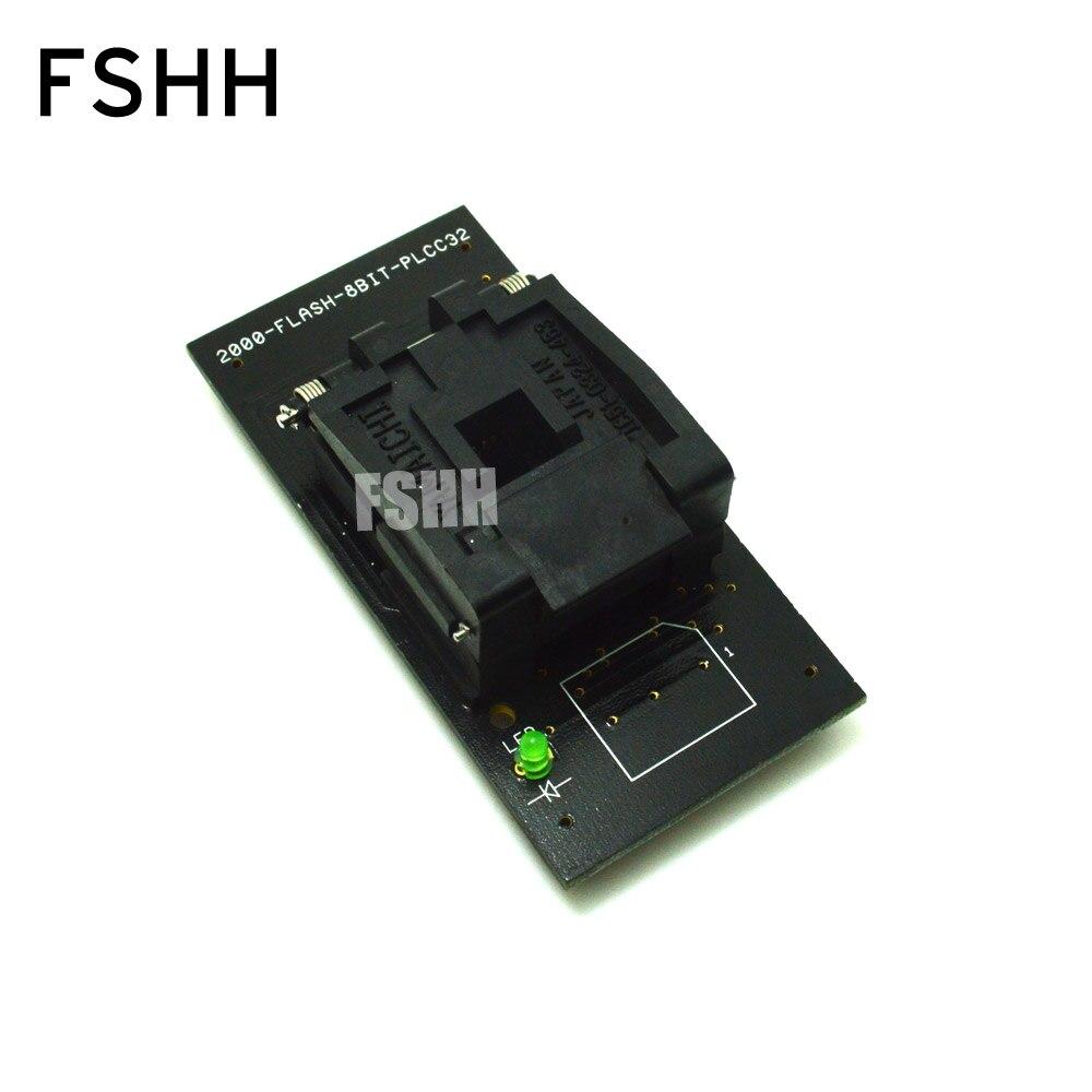 2000-FLASH-8BIT-PLCC32 adaptateur de programmeur prise de Test IC PLCC32 pour programmeur LP