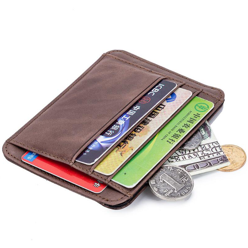 Slim Thin Real leather Credit card,ID Card holder small wallet Case man /& woman