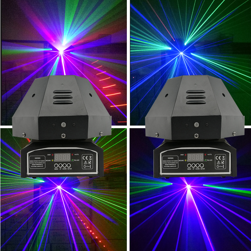 Stage Lighting Effect 2pc/lot 9 Eeys Moving Head Light Rgb Beam Light Laser Light Professional Scanning Strobe Dj Light Stage Equipment Sale Overall Discount 50-70%