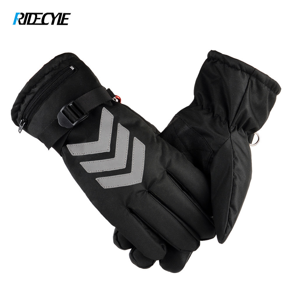 Unisex Powered Electric Rechargeable Heated Bike Gloves Waterproof Insulated Night Reflective Back Touch Screen Heating Gloves windproof 5 fingers heated skiing gloves waterproof cycling rechargeable gloves electric heating gloves