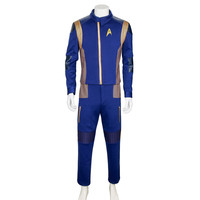 For Star Trek Discovery Commander Uniform Cosplay Costume New Starfleet USS Discovery Captain Ash Tyler Duty Outfit Cosplay New