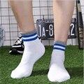 Korean style Stripes Harajuku sporting thick men socks combed cotton deodorant hardwearing