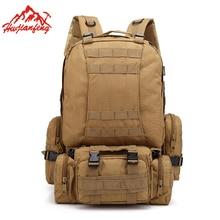 купить Multifunction Camouflage Men Climbing Bag Large Capacity Men&Women Bag 600D Oxford Waterproof Backpack Male Sports Tactical Bag онлайн