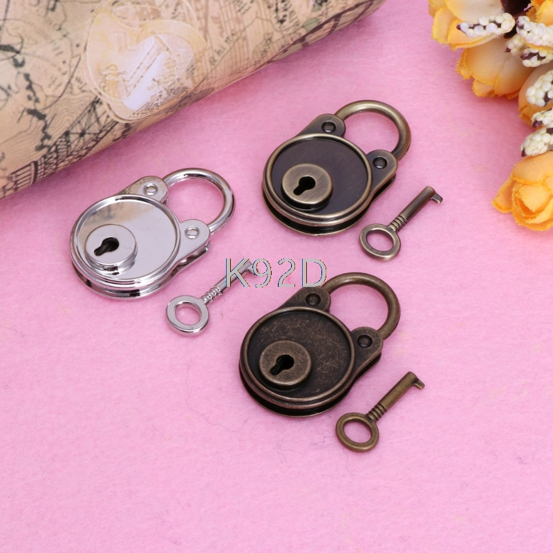 Bear Vintage Lock Old Antique Style Mini Archaize Padlocks Key Lock With Key J08