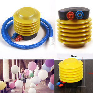 Balloon pump Essential Inflatable Float Toy Foot Pump /Air Inflator Balloon Pump Swimming Ring Yoga Ball Mattress Inflatable Toy(China)