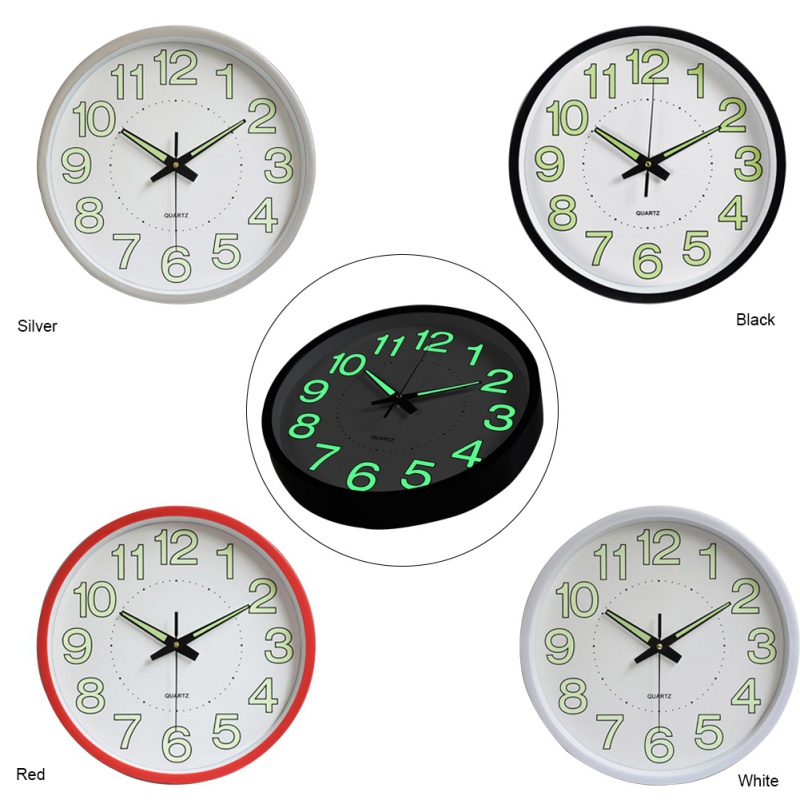 Modern Luminous Alarm Clock Nightlight Wall Clock Quartz Clocks For Home Living Room Office