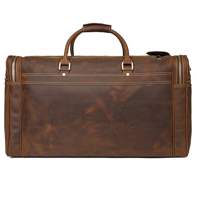 ANAPH Holdall/ Genuine Leather Bag For Men In Brown/ Large Men's Weekender Travel Duffle Bags 23 Inch/ Carry On Luggage 2