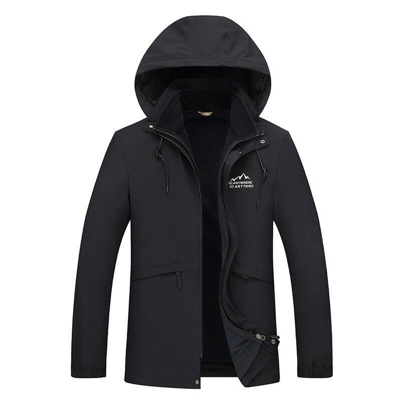 2 In 1 Fit Jacke Hohe Qualität Marke Wasserdichte Windjacke Jacke Mantel Winter Jacke Männer Männlichen Mantel Regen Jacke Parka 10xl 8xl