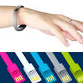 Fashion Wrist Bracelet 8Pin USB Data Sync Charging cable for iPhone 7 6 6s Plus 5 SE 5S iOS 10 Colors Noodle Wire for Power Bank