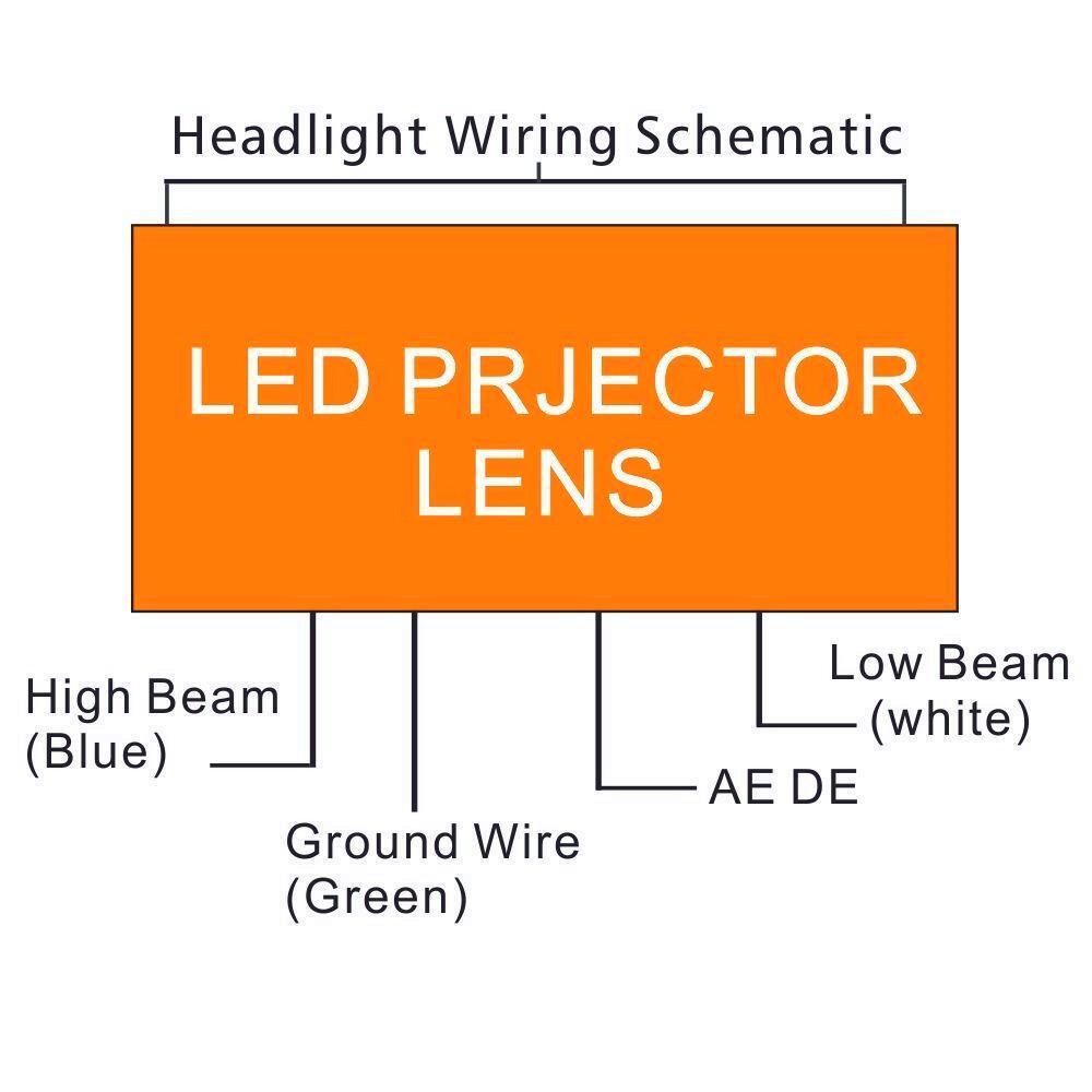 10pcs Lot 12v 10w Motorcycle Headlight Cree Led Headlamp Projector Headlamps Wiring Diagram S L1600