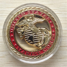 NEW USMC U.S. Marine Corps Core Values Challenge Coin Coins Commemorative coin-free shipping