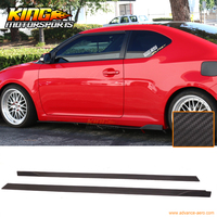 Universal Fit Most IKON Style 76 Inch Side Skirt Extension Flat Bottom Line Lip