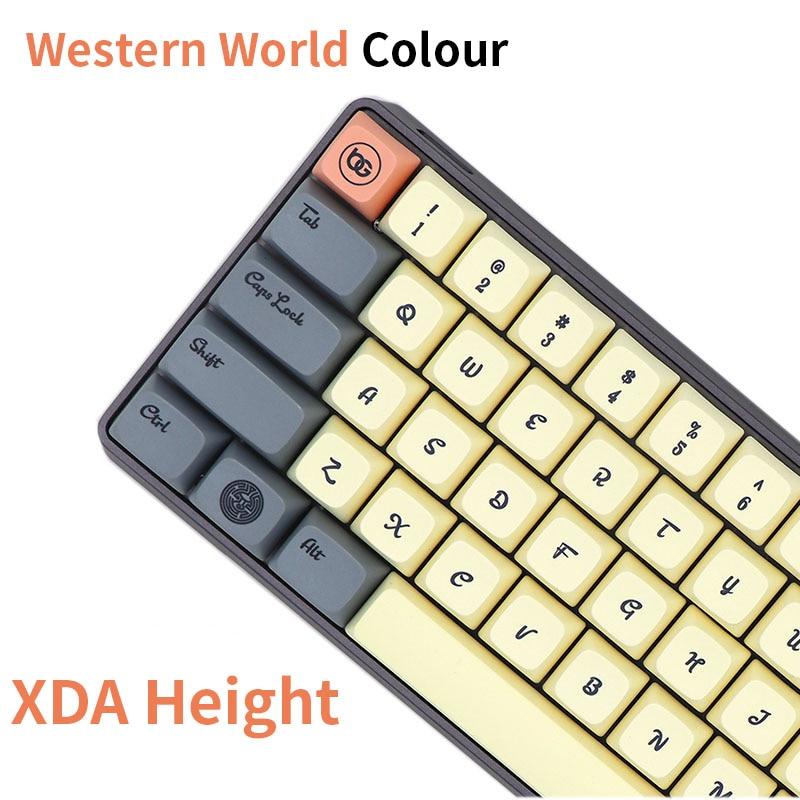 BGKC XDA  Western World Ethermal Dye Sublimation Fonts PBT Keycap For Wired USB Mechanical Keyboard Cherry MX Switch Keycaps