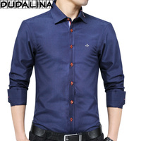 DUDALINA 2017 New Fashion Oxford Shirt Men Long Sleeve Shirt Men Clothes Slim Fit Casual Men