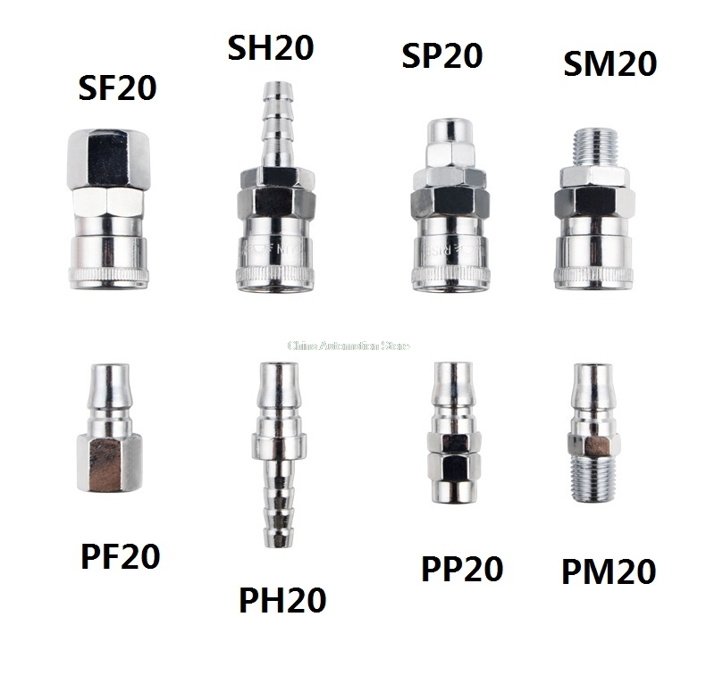 Pneumatic fitting C type Quick connector High pressure coupling PP20 SP20 PF20 SF20 PH20 SH20 PM20 SM20 work on Air compressor внутренний ssd накопитель sandisk 480gb sdssda 480g g26