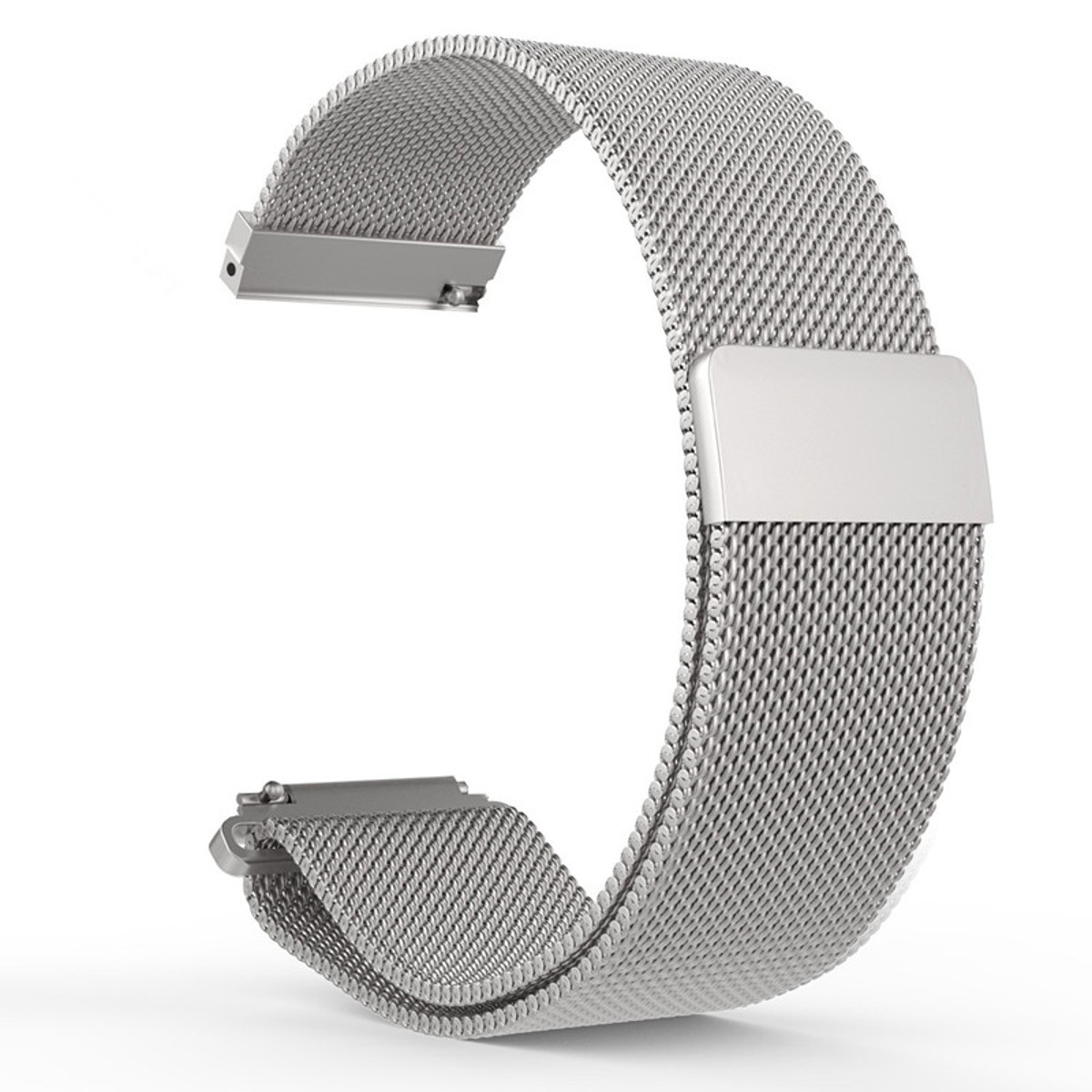 Milanese Loop Strap 20mm Stainless Steel Watchband Wrist Bracelet Quick Release Pins With Magnetic Buckle For/Huawei Smart Watch crested luxury magnetic milanese loop wrist strap