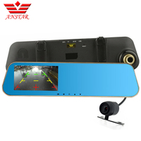Hot Sale Anstat H704A20 Car DVR Rearview Mirror 4 3 Dual Lens FHD 1080P Car Camera