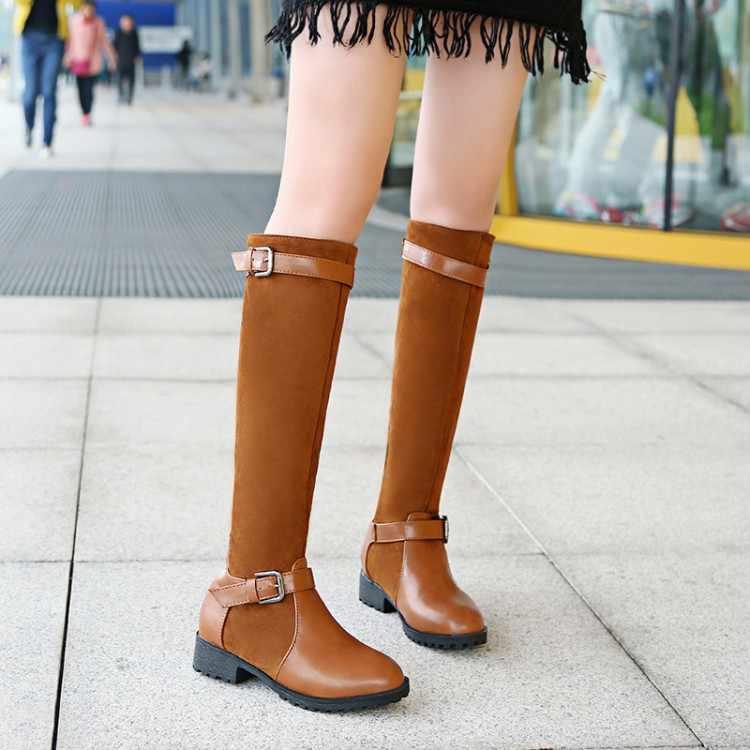 Большие размеры 9, 10, 11-13, высокие сапоги до бедра сапоги выше колена женские сапоги тканевые сапоги с ремешком и пряжкой