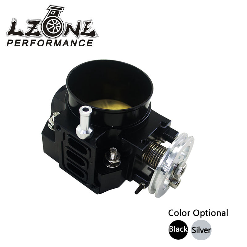 цена LZONE RACING - NEW THROTTLE BODY FOR RSX DC5 CIVIC SI EP3 K20 K20A 70MM CNC INTAKE THROTTLE BODY PERFORMANCE JR6951