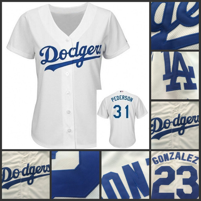Hot Authentic Los Angeles Dodgers Womens Jersey 31 Joc Pederson Baseball  Jersey Embroidery logos 100% stitched White for sale 59285b9a295