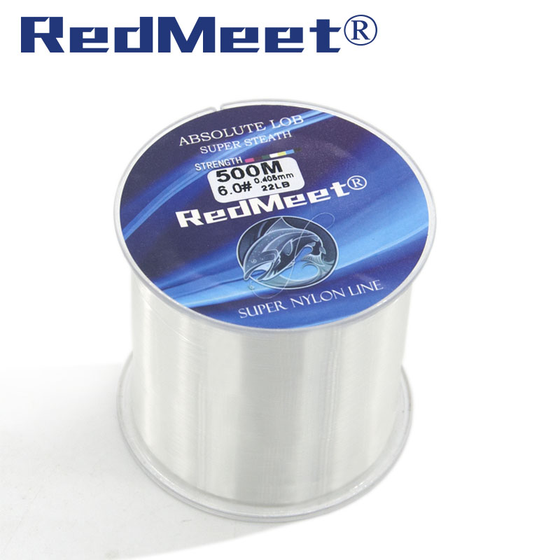 RedMeet Brand 1.0#-8.0# 500M 4.4-28.6LB Monofilament Line Nylon Fishing Lines For Carp Fishing Accessories Pesca Super Strong