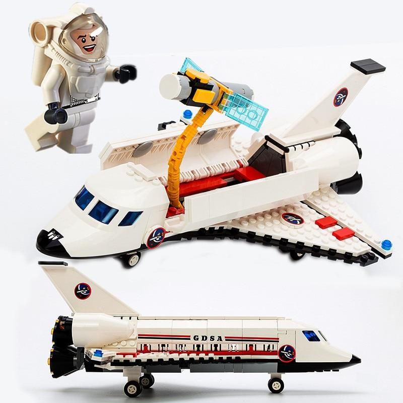все цены на 297pcs Space Shuttle TECHNIC Spacecraft Aerospace Polit Astronaut Aircraft Model Building Blocks Figures Gift Boy Toy Children