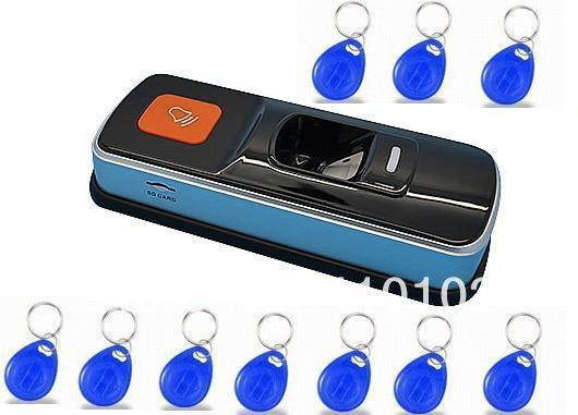 Sistema de Controle de Acesso Biométrico de impressões digitais e 3000 Sensor de Identificação RFID Leitor de Impressão Digital + 10 pcs Cartão Chave + navio Livre