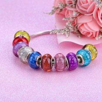 European Colorful Lampwork Glass  Murano Aolly Charm Bead Fit Pandora For Girl DIY Bracelets & Bangles 5