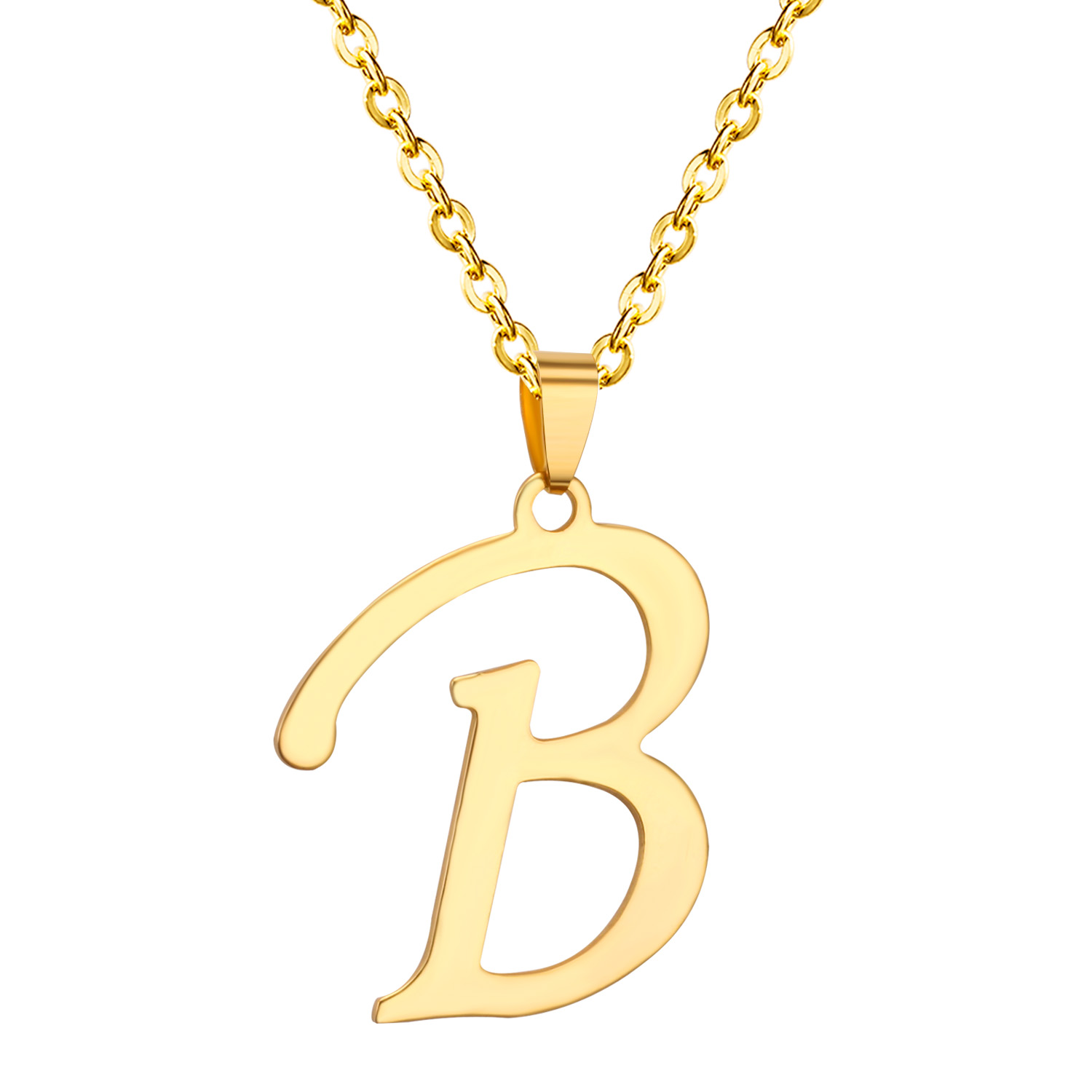 The Name Pendant Word Is B 316L Stainless Steel Pendants Necklaces,Free Chain(China